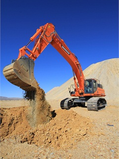 <p>Doosan DX490LC-3 excavator</p>