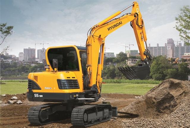 <p>Hyundai R55-9A excavator. <em>Photo courtesy of Hyundai.</em></p>