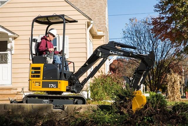 <p><em>Photo of John Deere 17G compact excavator courtesy of John Deere.</em></p>