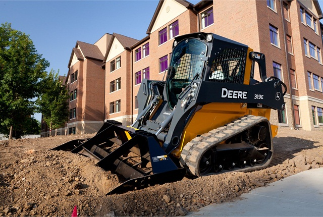 <p>Pictured is a 319E compact track loader</p>