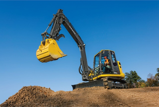 <p>85G excavator. <em>Photo courtesy of John Deere</em></p>