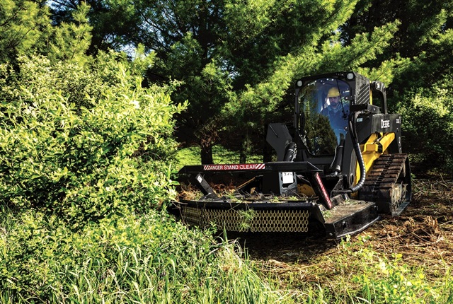 <p>The Extreme Duty Brush Cutter is optimized to work with select John Deere skid steers. <em>Photo courtesy of John Deere.</em></p>
