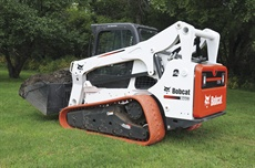 <p>Pictured is the Bobcat T770 with non-marking turf track.</p>