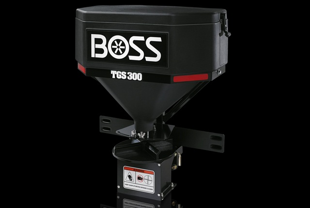 <p>The TGS 300 is the smallest tailgate spreader offered by Boss.<em>Photo courtesy of Boss</em></p>