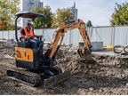 Pictured is the Case CX17C mini excavator. Photo courtesy of Case