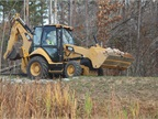 Pictured is the Cat 420F bckhoe loader.