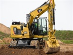<p>The Caterpillar M315F compact radius wheeled excavator. <em>Photo courtesy of Caterpillar</em></p>