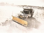 Photo of the HC Heavy Contractor Straight Blade Plow courtesy of Fisher Engineering