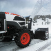 Front-mounted snowblower implements are now available for Bobcat compact tractor models CT120 to CT235.