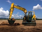 Hyundai Construction Equipment Americas' HX130LCR compact-radius excavator. Photo courtesy of HCEA