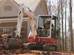 The Takeuchi TB240 Compact Excavator has an updated exterior. Photo courtesy of Takeuchi