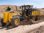 John Deere's 672GP motor grader meets final Tier 4 emissions requirements.