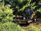 The Extreme Duty Brush Cutter is optimized to work with select John Deere skid steers. Photo courtesy of John Deere.