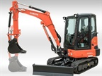 <p><em>Photo of  Kubota KX033-4 compact excavator with extendable dipper arm courtesy of Kubota</em></p>