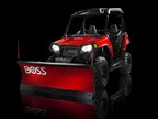 The Mid-Size UTV plow blade skin is made from tough, rust-resistant poly. Photo courtesy of Boss