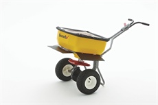 The SP-85SS offers a 160-lb. capacity and is capable of spreading bagged rock salt and pelletized material.