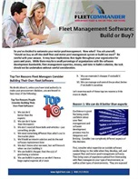 Fleet Management Software:  Build or Buy?