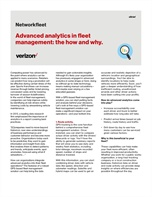Advanced analytics in fleet management: the how and why